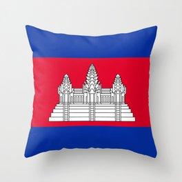 Cambodia Flag Throw Pillow