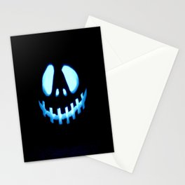 halloween Jack O Lantern Blue Stationery Cards