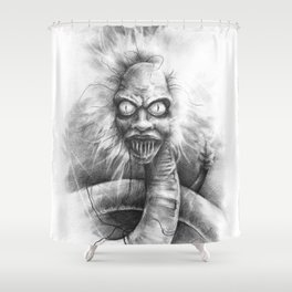 The Bio Exorcist Shower Curtain