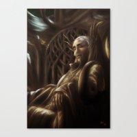 thranduil Canvas Prints featuring Thranduil by SUIamena