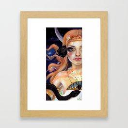 Ariadne and the snake Framed Art Print