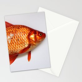 Red Gold Fish Stationery Cards