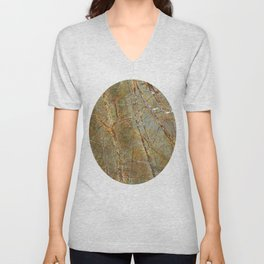 Forest Green Marble Unisex V-Neck