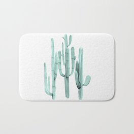 Cactus Trio Turquoise by Nature Magick Bath Mat