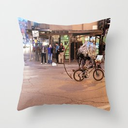 Performance Art on the Streets of Bucktown, Chicago 04 Throw Pillow