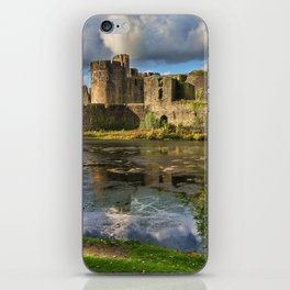 Caerphilly Castle Moat iPhone Skin