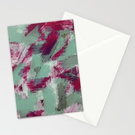 green red and purple painting texture abstract background Stationery Cards