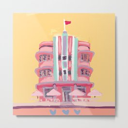 South Beach Deco Metal Print