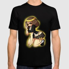 Lil'Angel Black MEDIUM Mens Fitted Tee