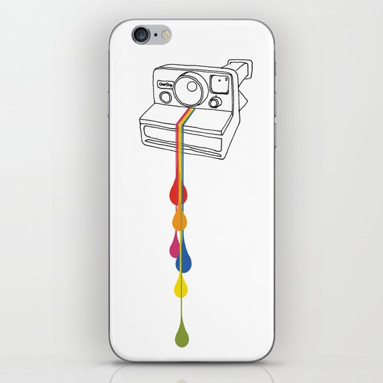 Polaroid Drips iPhone & iPod Skin