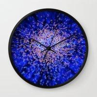 big bang Wall Clocks featuring Big bang by Digital Dreams