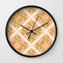 Autumn Diamond Lattice Wall Clock