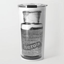 Vintage Heroin Medicine Bottle Travel Mug