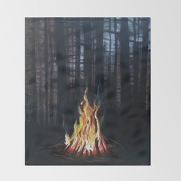 Campfie Strories Throw Blanket