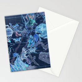 Star Atlas Vintage Constellation Map Pardies Plate 5 negative blue inverted Stationery Cards