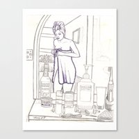 toilet Canvas Prints featuring Toilet by odinelpierrejunior