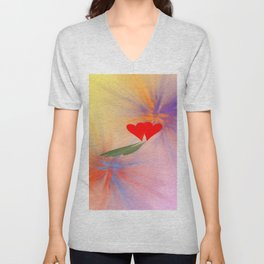 Together giving ONE shadow .. Unisex V-Neck