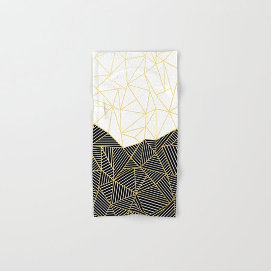 Ab Half and Half White Gold Hand & Bath Towel