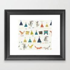 Wolf Pattern Framed Art Print