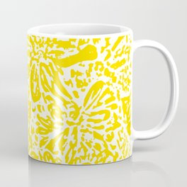 Gen Z Yellow Marigold Lino Cut Coffee Mug