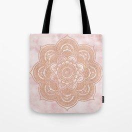 Rose gold mandala - pink marble Tote Bag