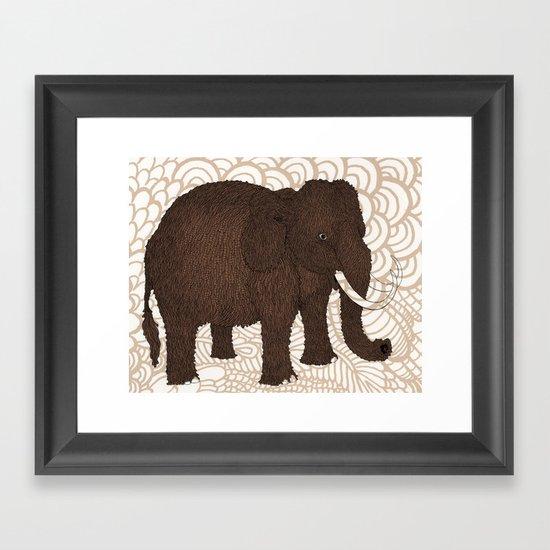 Brown Woolly Mammoth Framed Art Print