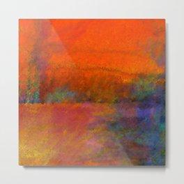 Orange Study #1 Digital Painting Metal Print