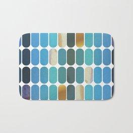 Retro Blue Pattern Bath Mat