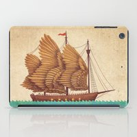 sea iPad Cases featuring Winged Odyssey by Terry Fan