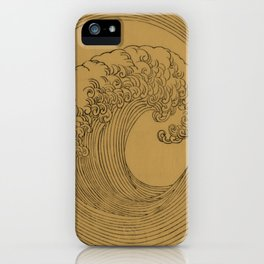 Vintage Golden Wave iPhone Case
