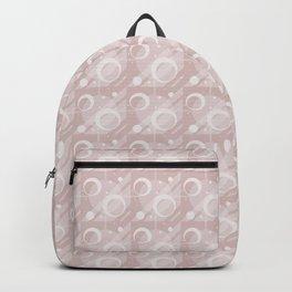 Modern Geometric Pattern 6 in Shell Pink Backpack