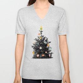 Decorated christmas tree Unisex V-Neck