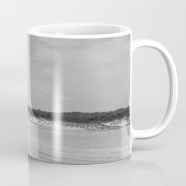 Assateague Island panoramic (black and white) Coffee Mug