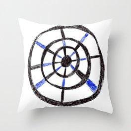 Biro Wheel Pattern Throw Pillow