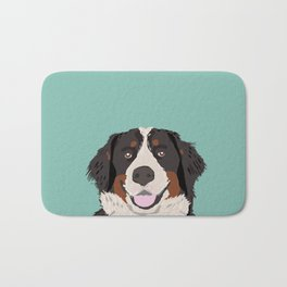 Bernese Mountain Dog pet portrait dog art illustration fur baby dog breed unique gift for dog lover  Bath Mat