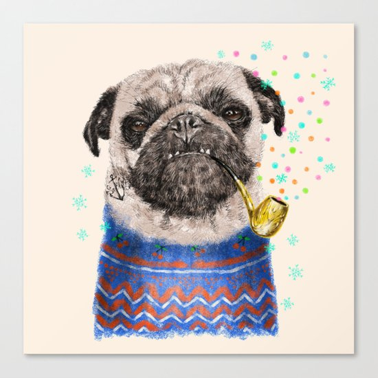 Mr.Pug II Canvas Print