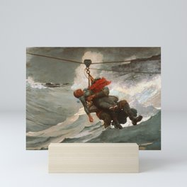 The Life Line by Winslow Homer, 1884 Mini Art Print