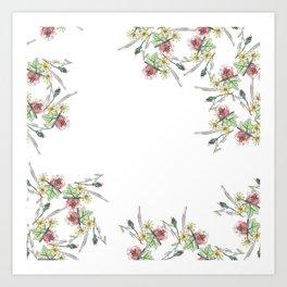 Flower Border Art Print