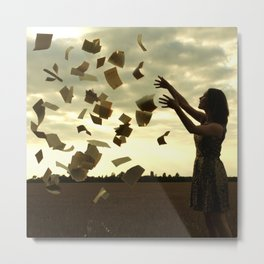 Levitating pages Metal Print