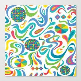 cartwheel white Canvas Print