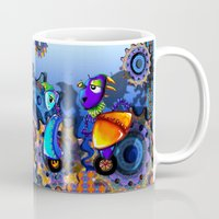 robots Mugs featuring Robots by aboutlaila