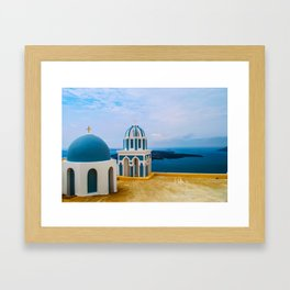 Church with a view Framed Art Print