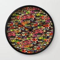 brazil Wall Clocks featuring Brazil by India Panzid
