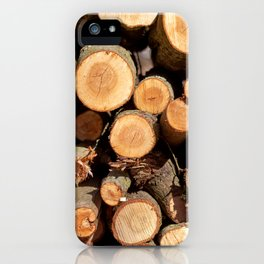 Woodpile iPhone Case