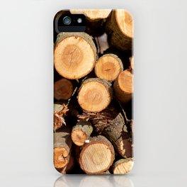 Woodpile iPhone Case