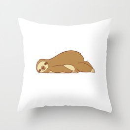 "For Animal Lovers Lazy Sloth Shirt For Animal Lovers ""Weekend Mode"" T-shirt Design Sleepy Slow Throw Pillow"
