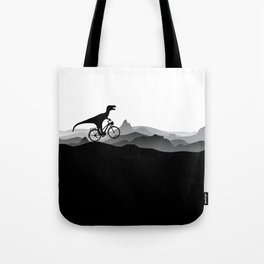 DINO Bicycle - Dinosaur on bicycle - T-rex - Dino Collection Tote Bag