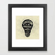 Education: Darkness to Light Framed Art Print