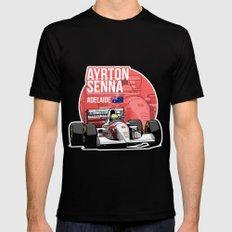Ayrton Senna - 1993 Adelaide SMALL Black Mens Fitted Tee