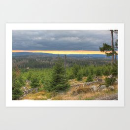 Harz National Park Sunset Art Print